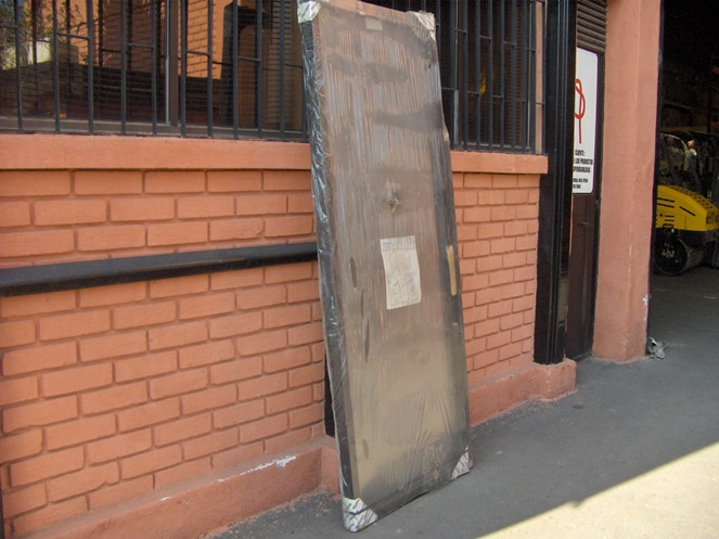 Puerta ventanal aluminio color bronce 1 50 x 2 05 mt for Ventanas de aluminio color bronce