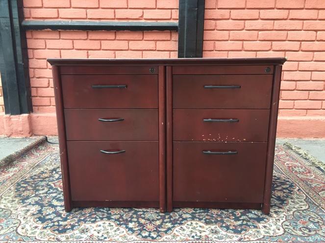 Mueble madera 6 cajones usado for Muebles usados santiago
