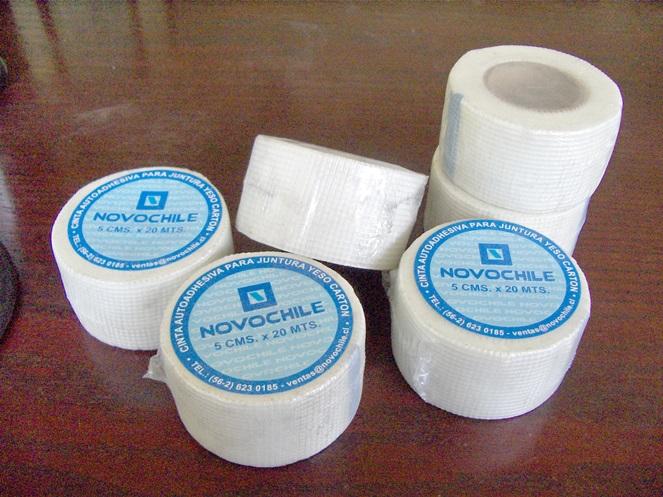 Cinta para juntura yeso cart n fibra vidrio 5 cms x 20 for Planchas de yeso carton