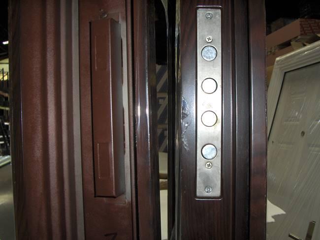 Puerta de Seguridad Acero Con Marco 2050*860*90mm / Café / Crown ...