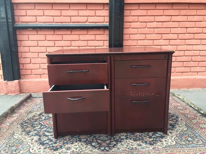 Mueble madera 6 cajones usado for Muebles de oficina usados