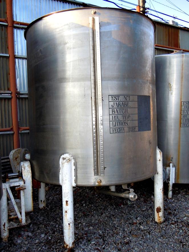 Estanque acero inox con agitador litros aprox for Precio estanque