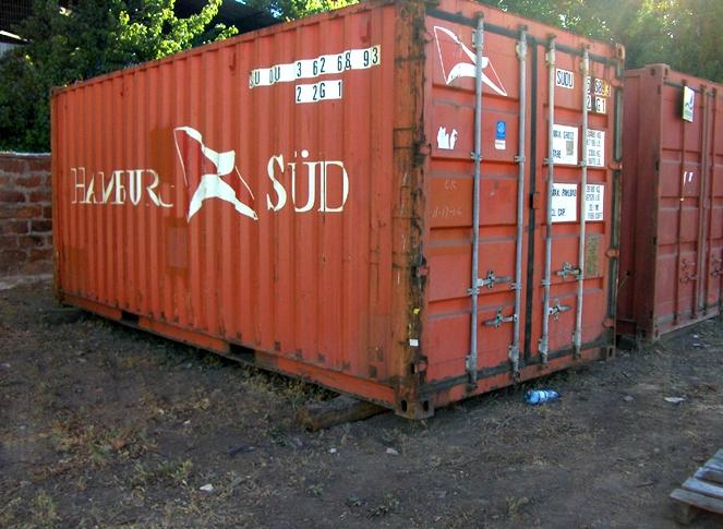 Contenedor mar timo 20 rojo usado - Contenedor maritimo precio ...