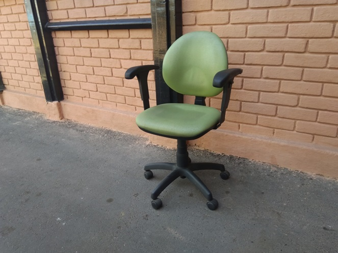 Silla de Oficina Ergonométrica Color Verde / Usada - Chileremates.cl