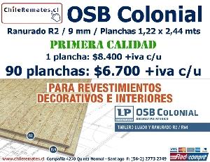 Placa OSB / LP Colonial R2 / 9 mm / 1.22 x 2.44 m